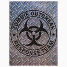 Zombie Outbreak Response Team on Diamond Plate by thatstickerguy