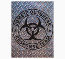 Zombie Outbreak Response Team on Diamond Plate Kids Clothes