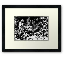 Raiden Black White Metal Gear Solid Framed Print