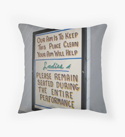 Instructional Fortitude Throw Pillow