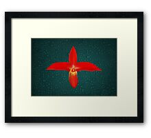 Bright Red Orchid Natural Color Framed Print