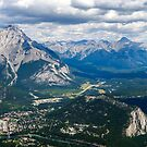 View of Banff from Sulphur Mountain by Chris  Randall