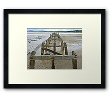 The Old Pier Of Fahan Framed Print