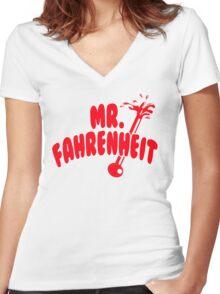 Mr. Fahrenheit Women's Fitted V-Neck T-Shirt