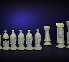 Chess Pieces - (dare to be different) by Schoolhouse62