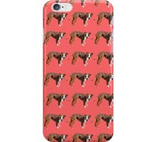 Poppy Red Pup Pattern iPhone Case/Skin