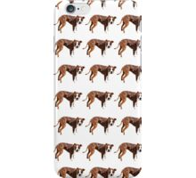 Poppy Red Pup White Pattern iPhone Case/Skin