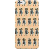 Light Orange Pup Pattern iPhone Case/Skin