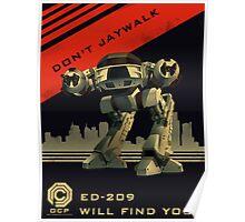 Robocop: Don't Jaywalk Poster