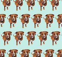 Light Blue Puppy Pattern by pupsofnyc