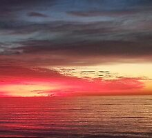 Fiery Sunset in Redondo Beach by Matthew Nickle