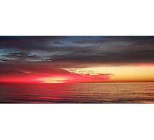 Fiery Sunset in Redondo Beach Photographic Print