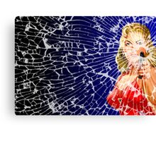 Shattered Again Widescreen Canvas Print