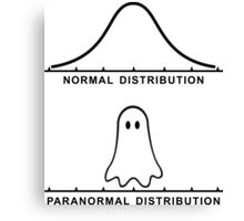 Normal Paranormal Distribution Canvas Print