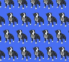 Royal Blue Pup Pattern by pupsofnyc