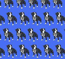 Royal Blue Pup Pattern by pupsofnyc
