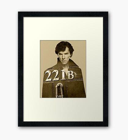 Sherlock 221B Framed Print