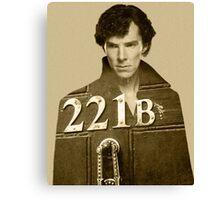 Sherlock 221B Canvas Print