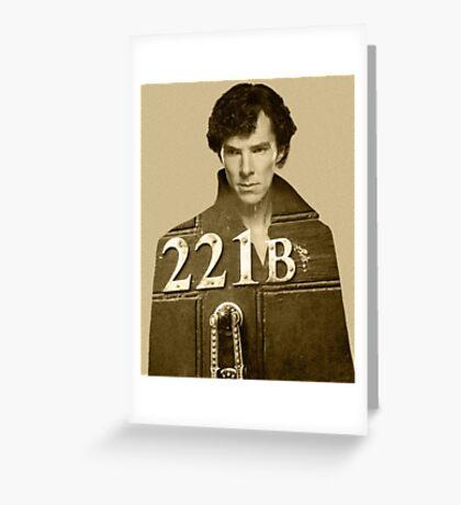 Sherlock 221B Greeting Card