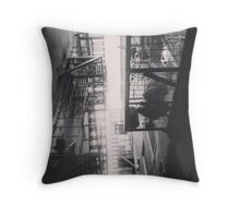 Old City Fire Escapes Throw Pillow