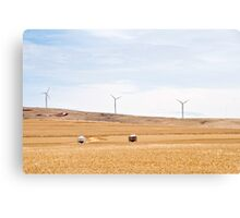Wimdmills and silos Canvas Print