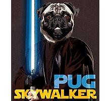 Pug Skywalker Photographic Print