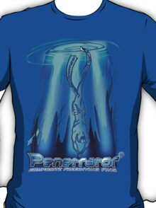 Freediving with Penetrator fins T-Shirt
