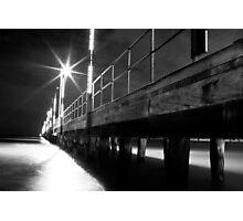 Frankston Pier at night, Port Phillip Bay, Victoria Photographic Print