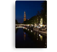 Amsterdam Blue Hour Canvas Print