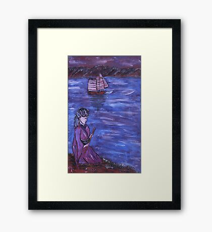 """Waiting Maiden 2"" by Carter L. Shepard Framed Print"
