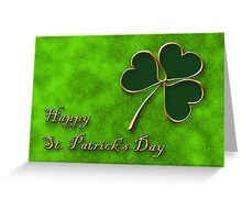 St. Patrick's Day Clover Greeting Card