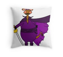 The masked cow Throw Pillow