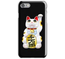 Money Cat On Black iPhone Case/Skin
