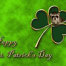 St. Patrick's Day Clover Raccoon by jkartlife