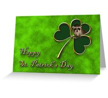 St. Patrick's Day Clover Raccoon Greeting Card