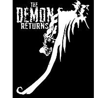 The Demon Returns (White) Photographic Print