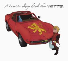 A Lannister Always Details Their 'Vette. by David Jablow