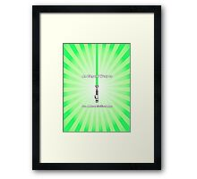 Luke Skywalker's Lightsaber- An Elegant Weapon Framed Print