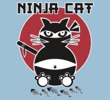 Ninja Cat - Dinner Time Kids Tee