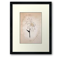 The daisy. Framed Print
