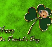 St. Patrick's Day Clover Hamster by jkartlife