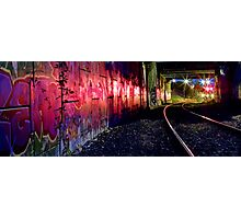 Graffiti art on Stoney Point diesel train line Photographic Print