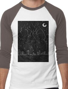 The City is Alive Men's Baseball ¾ T-Shirt
