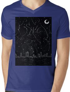 The City is Alive Mens V-Neck T-Shirt