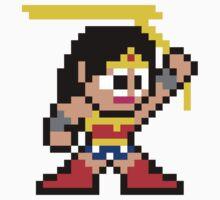 8-bit Wonder Woman Kids Clothes