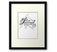John Smith's Journal of impossible things Framed Print
