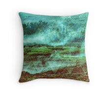 ALFA Relaxing geometric landscape Throw Pillow