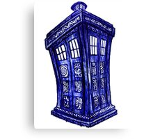 Trippin the Tardis Canvas Print