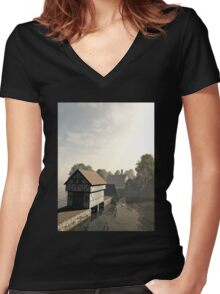 Island Manor House Women's Fitted V-Neck T-Shirt