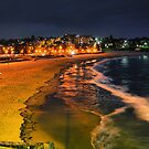 Coogee beach at night by andreisky